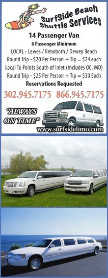 Transportation Services - Lewes And Rehoboth Beach, DE - Surf Side Limousine Services