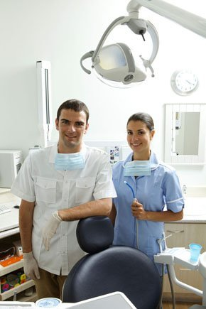 Patient undergoing a dental therapy