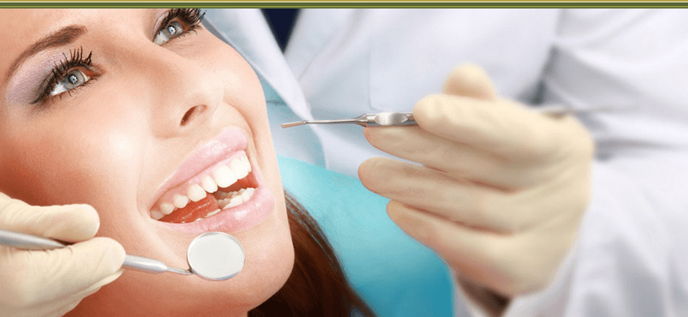 Patient undergoing dental therapy