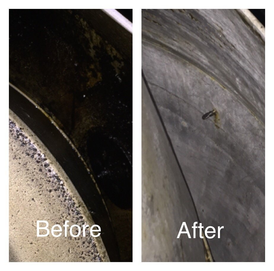 Commercial grease exhaust cleaning