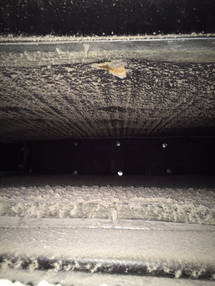 Before - dirty air duct