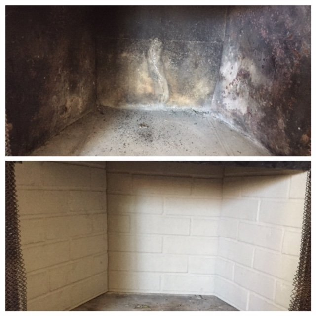 Before and after refractory wall replacement