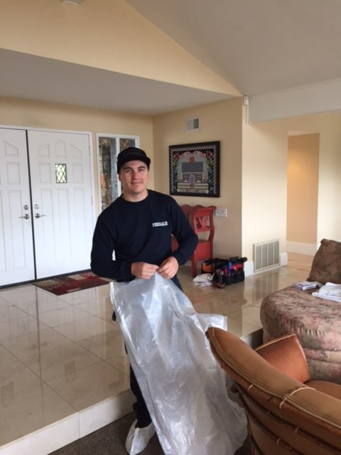Protecting furniture during our air duct cleaning