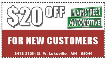 $20 OFF for New Customers - Lakeville, MN - Main Street Automotive