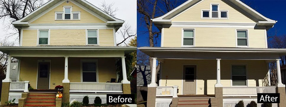 Before and after house