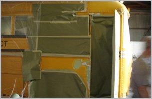 Restoring yellow bus