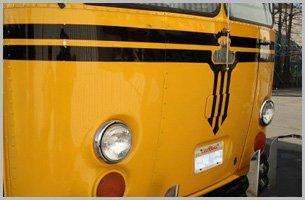 Restored yellow bus