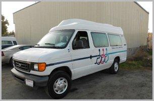 fixed white van