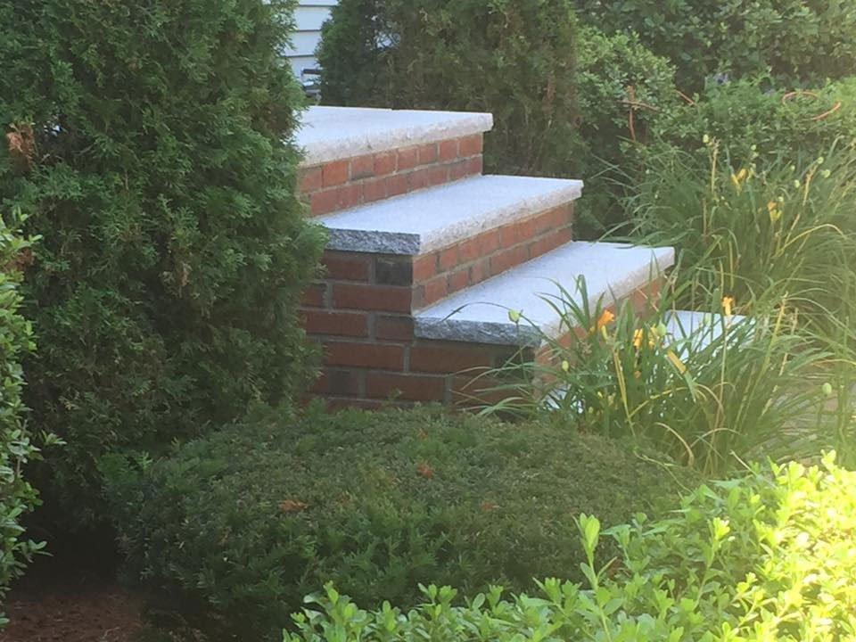 Brick stair
