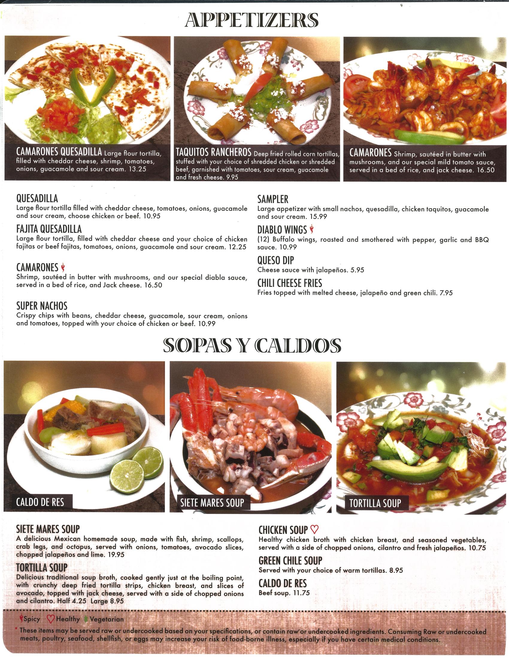 3 margaritas loveland appetizers menu loveland co view appetizerssopas pdf forumfinder Images
