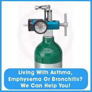Medical Supply - Vero Beach, FL - Perkins Medical Supply - Medical Oxygen Tank - Living with Asthma, Emphysema Or Bronchitis? We can help you!