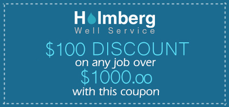 Holmberg Well Service Coupon