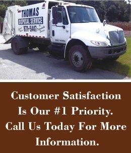 Sanitation Statesboro, GA - Thomas Disposal Service