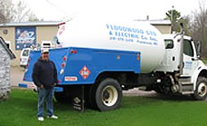 Floodwood Gas & Electric Co Inc. propane truck