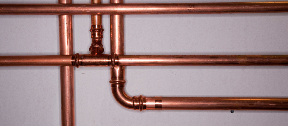 Newly installed basement pipes