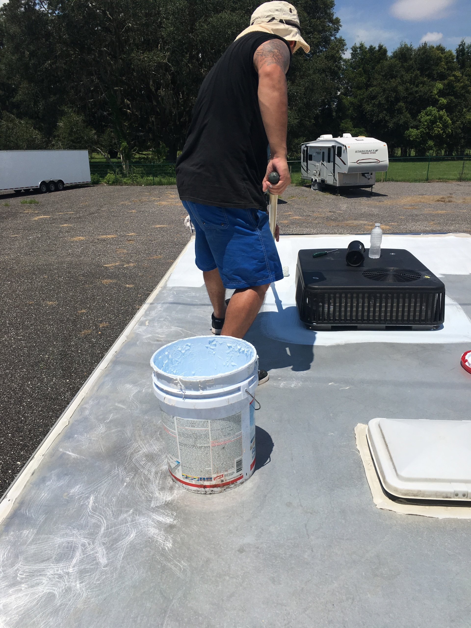 Rv Roof Coating Mpres Mobile Detailing Tampa Amp Brandon Fl