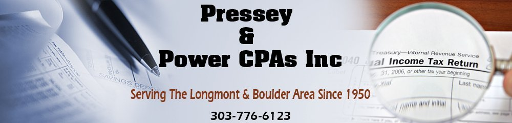 Accounting - Longmont, CO - Pressey & Power CPAs Inc