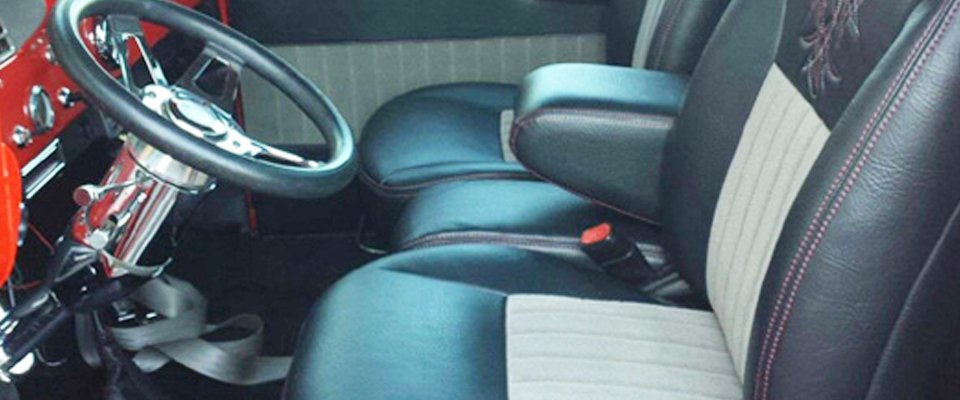 Hot rod upholstery