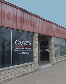 Promotional Items - Appleton, WI  - Cooney's Embroidery & Sportswear - Store Front