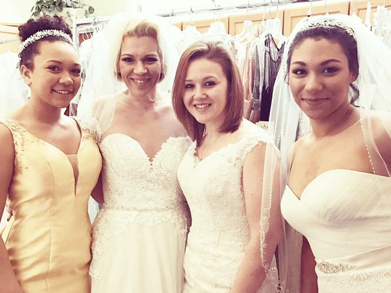 Wedding gowns and bridesmaid gowns