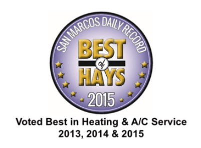San Marcos Air Conditioning Inc Service area map