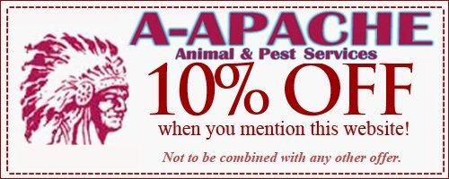 A-Apache Animal & Pest Services Coupon - Elmwood Park NJ