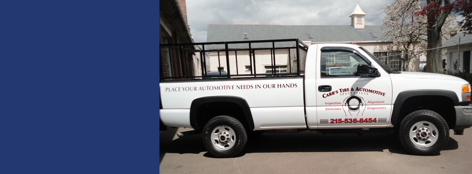 Carr Tire & Auto Specialists Inc. service truck