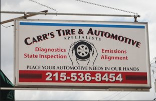 Carr Tire & Auto Specialists Inc. signage