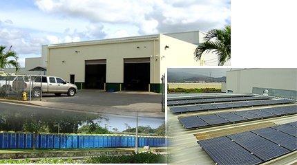 Portable Toilet Rentals - Kapolei, HI  - Chemi-Toi - Building,Potable toilets and solar panels