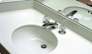 Repaired sink drainage