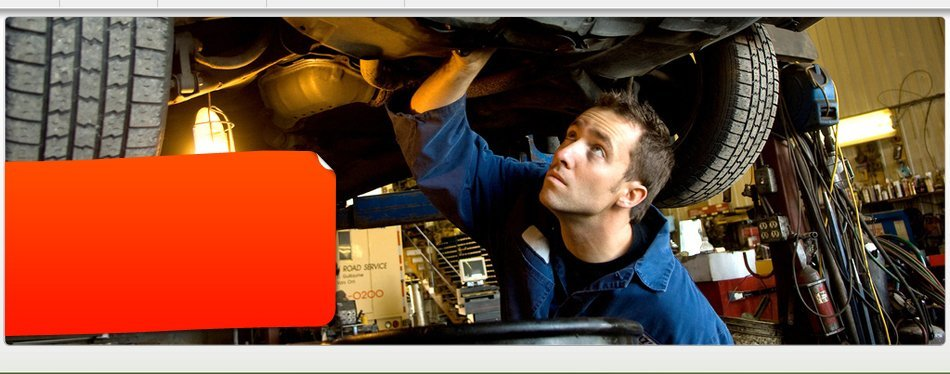 Man checking the car's machine