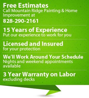 Painting and Carpentry Repairs - Hendersonville, NC - Mountain Ridge Painting & Home Improvement