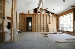House interior being remodeled