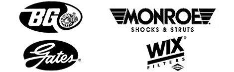 BG, Monroe, Gates, and Wix Logos