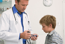 doctor with a boy patient