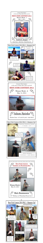 Sports Bar - Best Fish 2014 Weekly Winners | Laramie, WY | Snowy Range Sports Bar & Grill | 307-742-0050