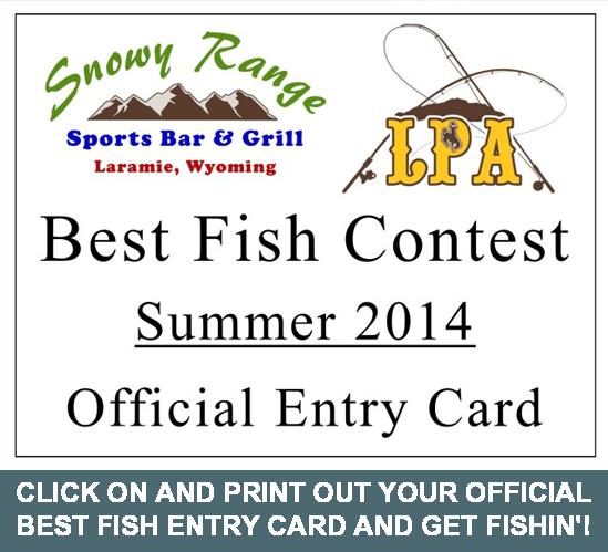 Sports Bar - Best Fish 2014 Official Entry Card | Laramie, WY | Snowy Range Sports Bar & Grill | 307-742-0050