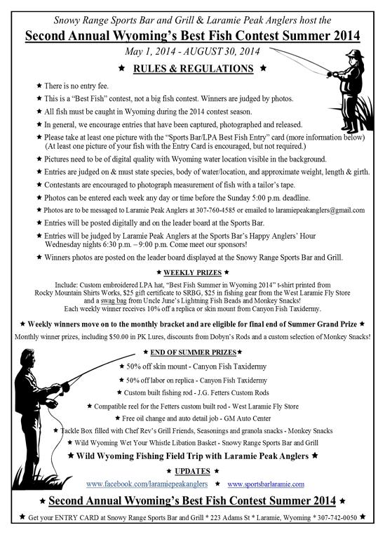 Best Fish Rules | Laramie, WY | Snowy Range Sports Bar & Grill | 307-742-0050