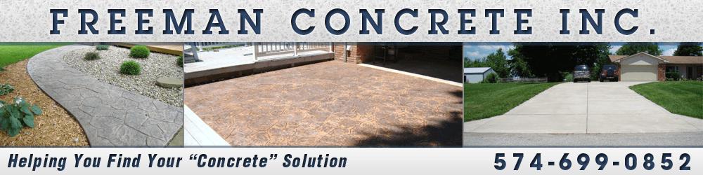 Concrete Contractors Kokomo, IN - Freeman Concrete Inc.