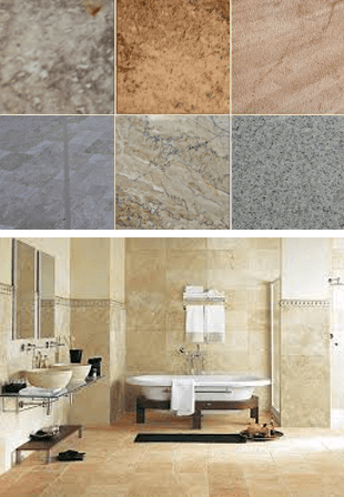 A View Of Different Types Of Hardwoods For Flooring And View Of Bathroom
