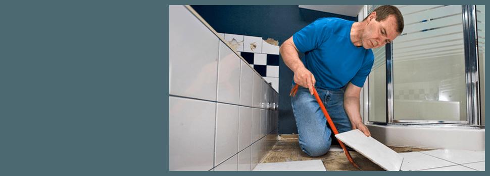 Man Installing Tile For Flooring