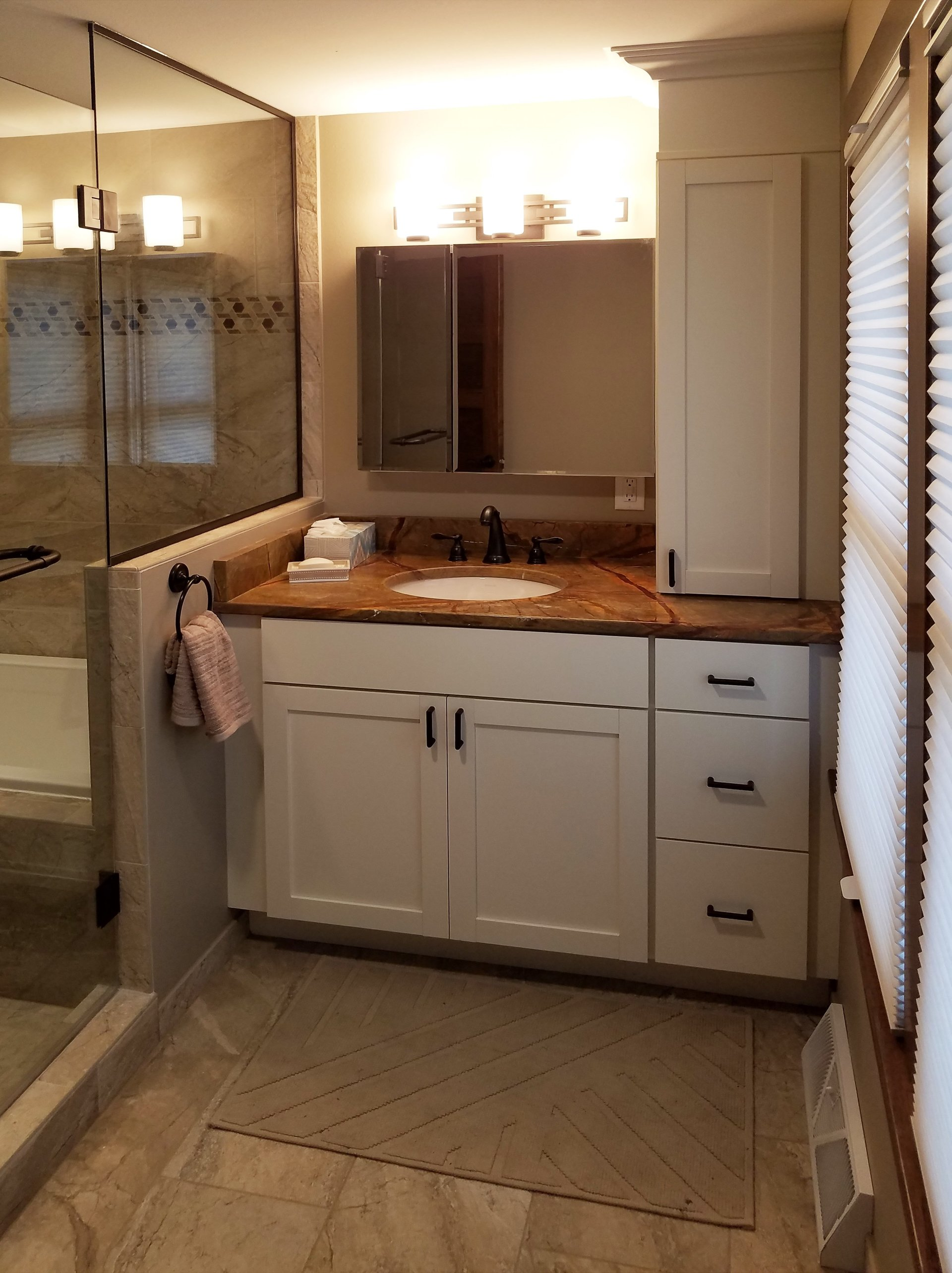 Bathroom vanities madison wi - White Shaker Style Vanity Transitional Bathroom Design In Madison Wi Side Vanity Storage