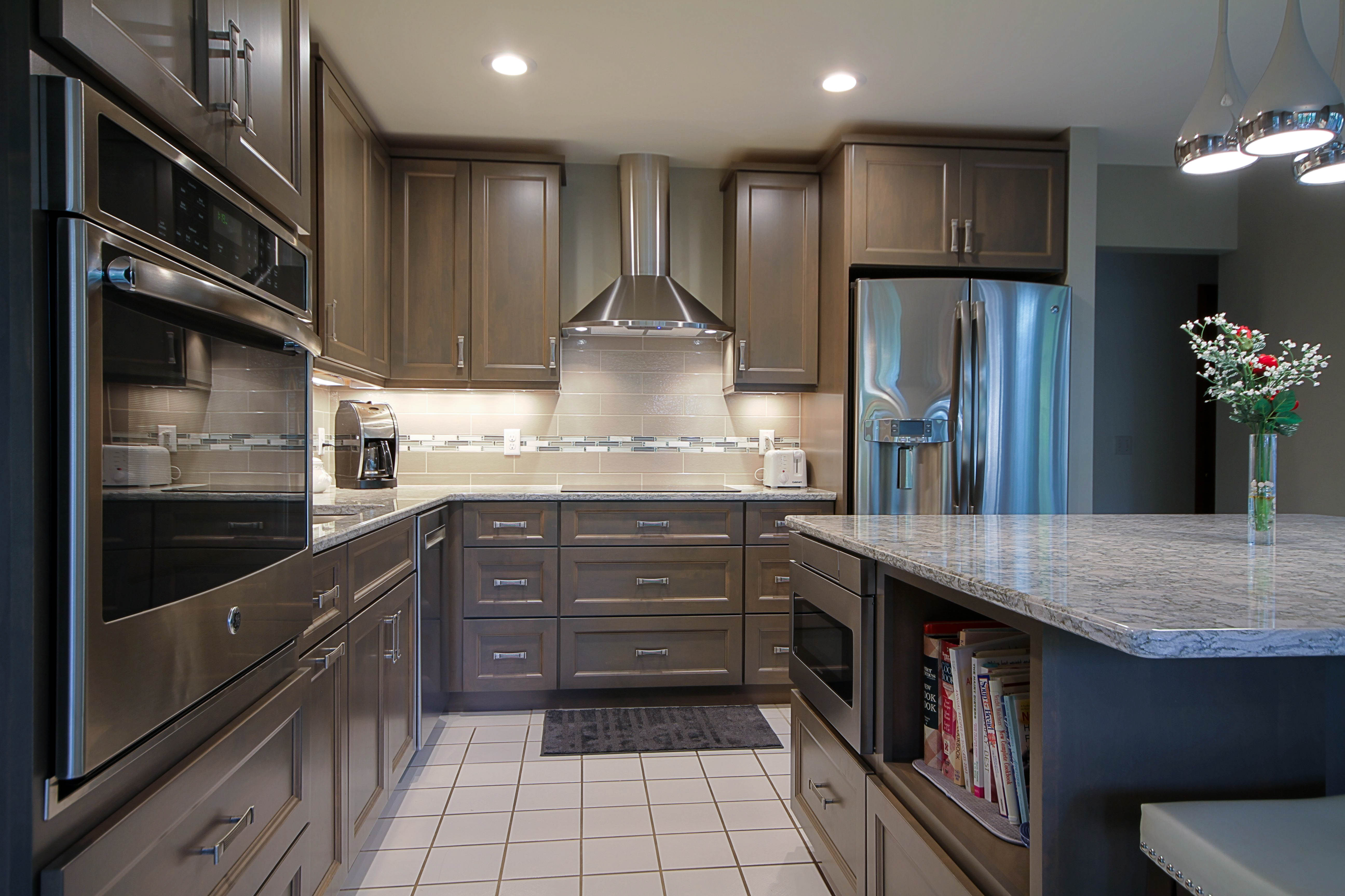 Kitchen Remodeling, grey kitchen cabinets, cambria countertops