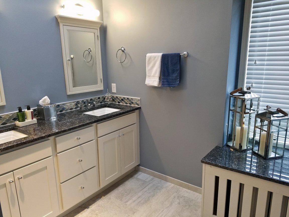 Bathroom Design, light blue bathroom floor tile,