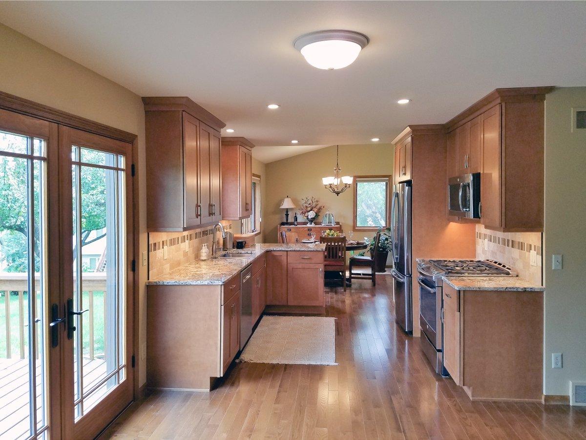 Kitchen Remodeling, galley kitchen design, small galley kitchen, shaker style kitchen cabinets