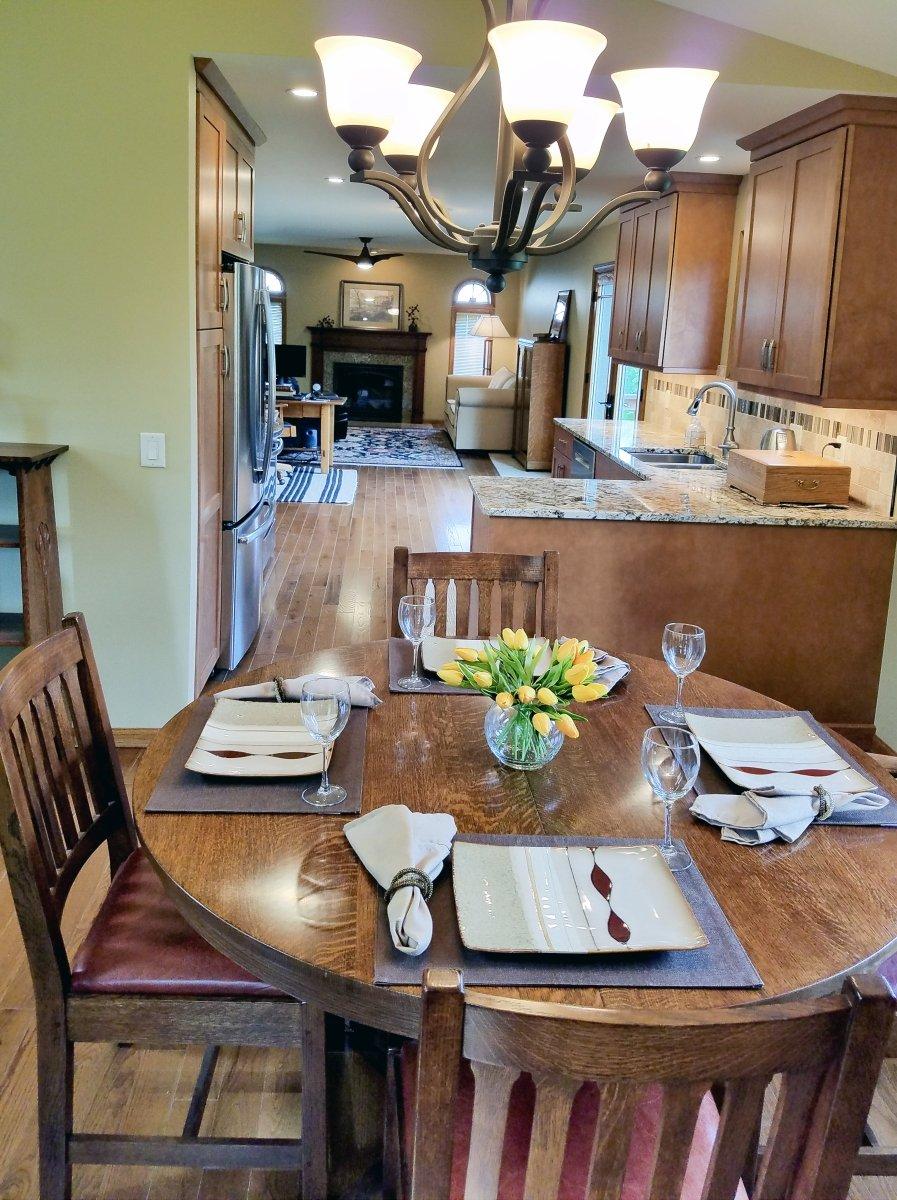 Kitchen Remodeling, eat-in kitchen, stickley dining room set
