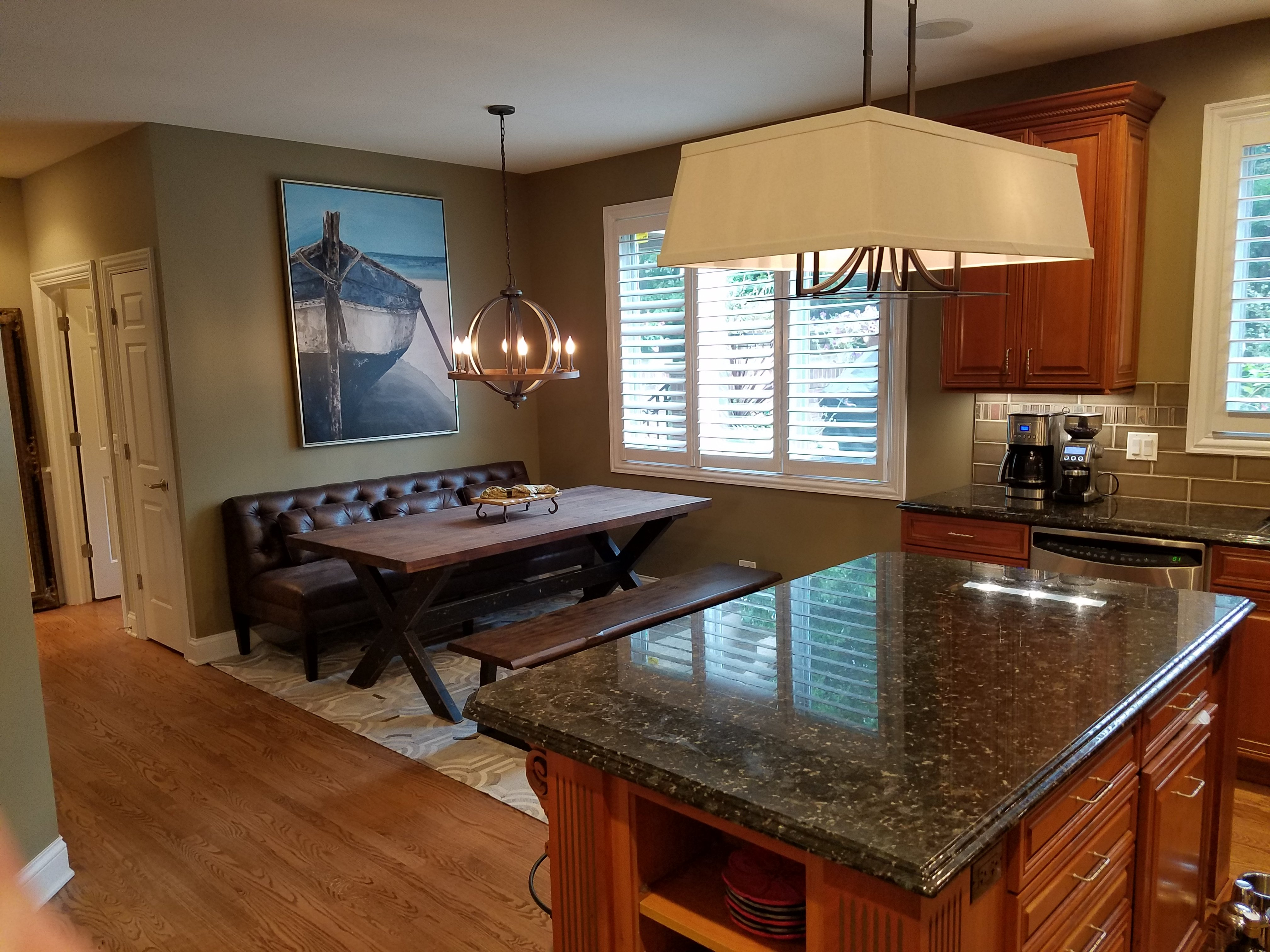 Kitchen Remodeling and Design, eat-in kitchen layout, kitchen lighting ideas