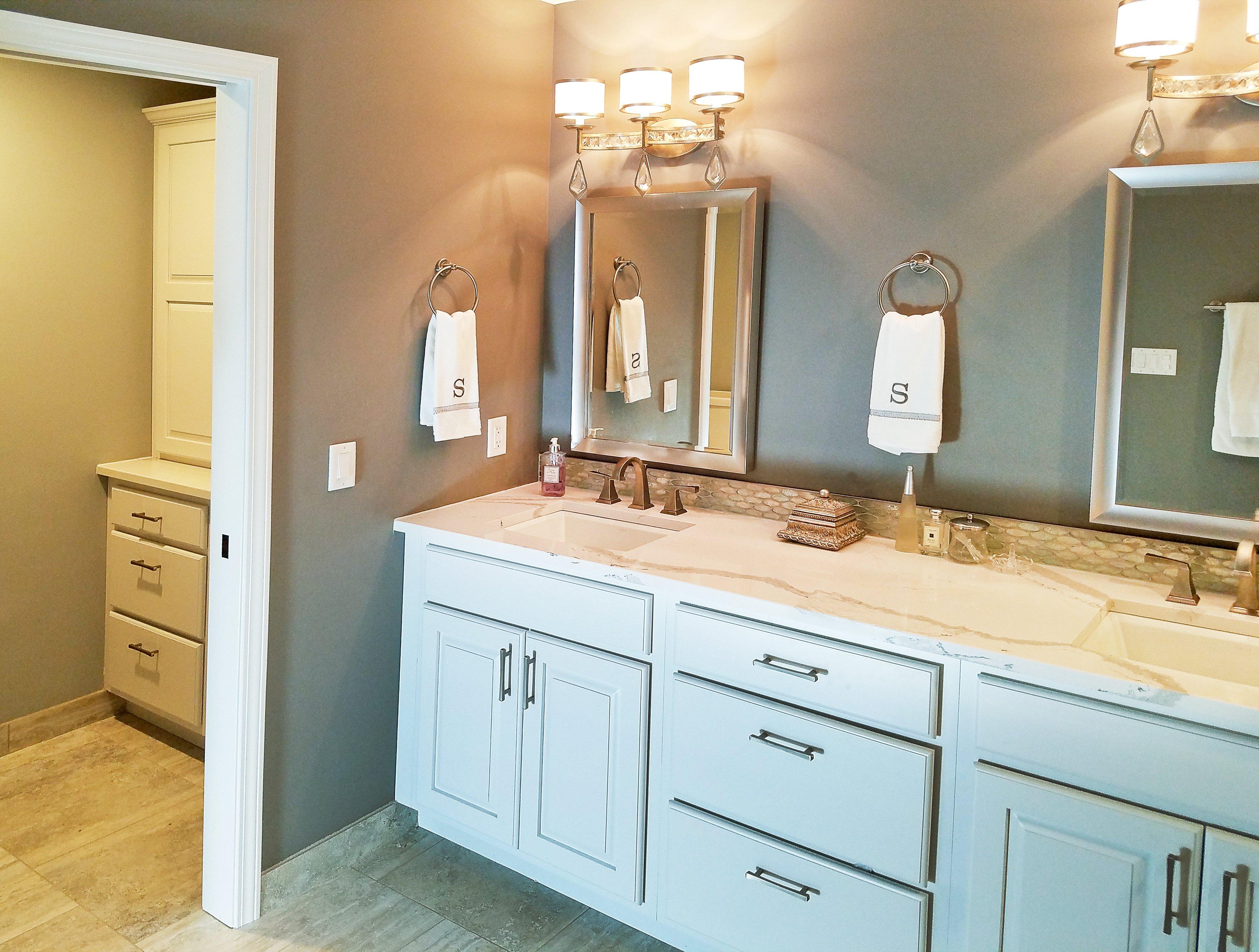 Bathroom Design, bathroom vanity design, towel ring,