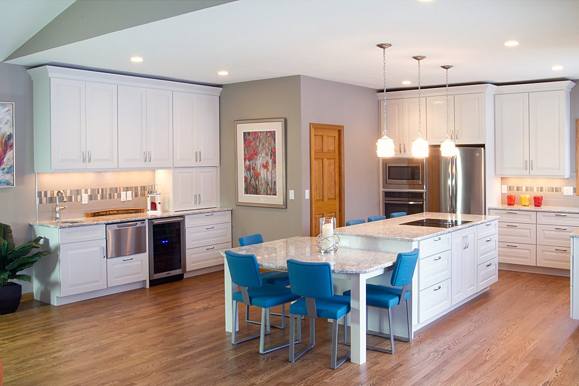 Kitchen Remodeling, white cabinets, cambria countertops