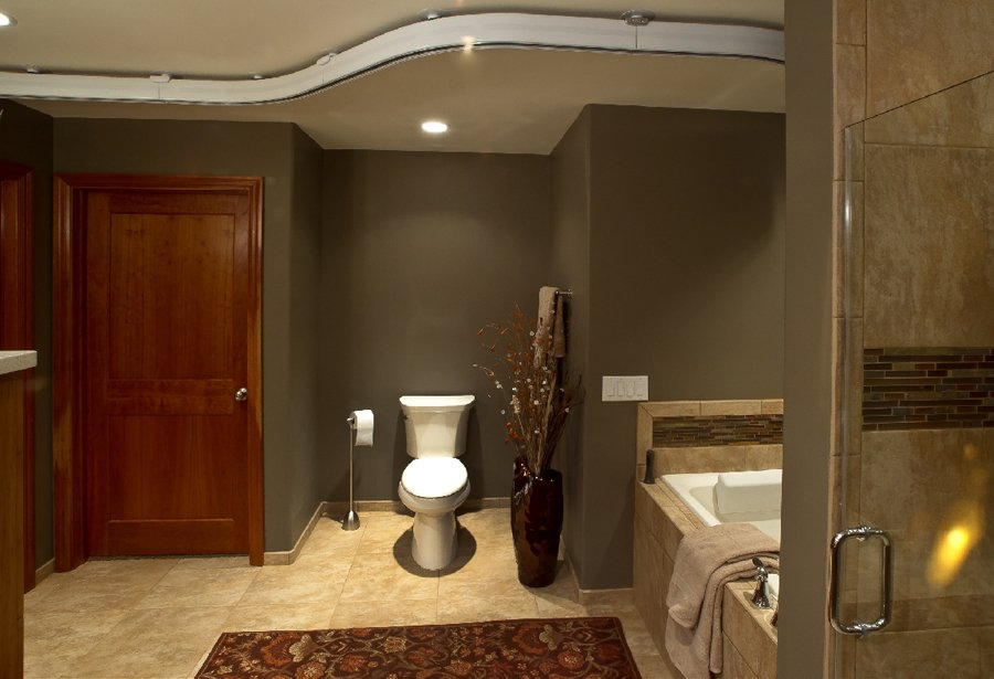 Bathroom Design, taupe bathroom wall paint, white toilet
